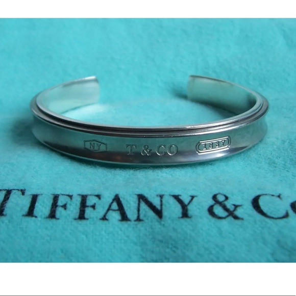 1acacafde Tiffany & Co. Jewelry | Tiffany Co 1837 Sterling Titanium Cuff ...